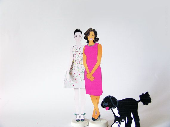 Lola goes to the White House  Michelle Obama and by iFiglideiFiori. official web site: http://www.lolapaperdoll.it