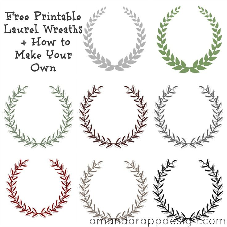 Free Printable Laurel Wreath   How to Make Your Own For Name tags