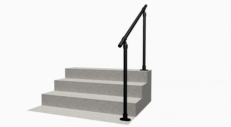 Black Surface C50 - Easy to Install Exterior Handrail ...