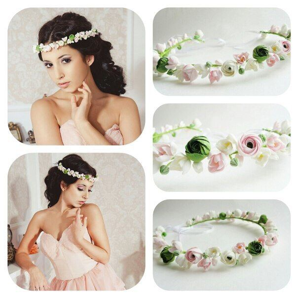 Spring flowers. Flowers crown. Handmade. All flowers are made completely by hand…