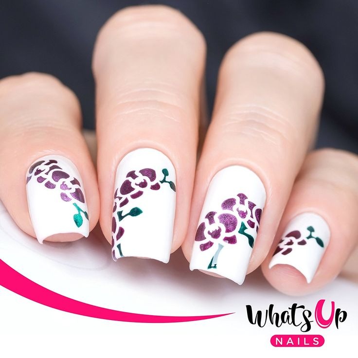 Whats Up Nails - Orchids Nail Stencils Stickers Vinyls for Nail Art Design (2 Sheets, 24 Stencils Total) *** Check out this great product.