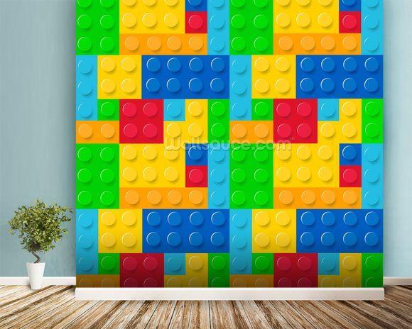 Lego Effect mural wallpaper room setting