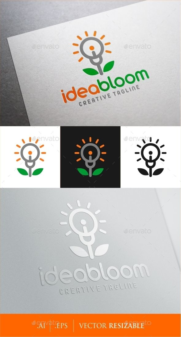 Idea Bloom Logo — Vector EPS #unique #initial logo • Available here → https://graphicriver.net/item/idea-bloom-logo/9171866?ref=pxcr