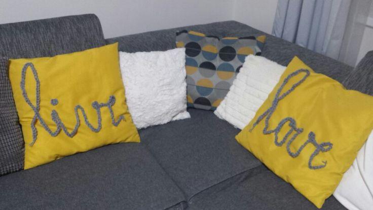 Yellow  Pillows,  knitting live & love