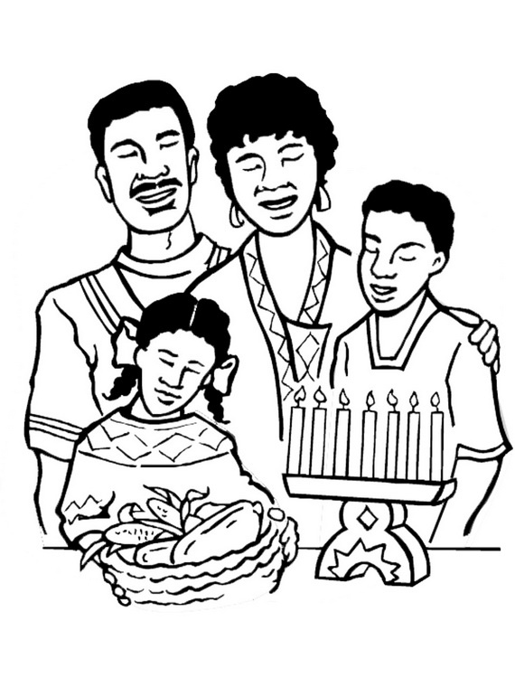Kwanzaa is an african american and pan african cultural for African culture coloring pages