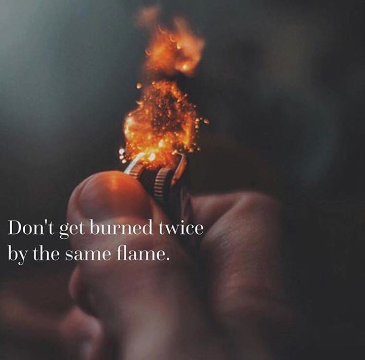 Positive Quotes : QUOTATION – Image : Quotes Of the day – Description Dont get burned twice.. Sharing is Power – Don't forget to share this quote ! https://hallofquotes.com/2018/04/04/positive-quotes-dont-get-burned-twice/