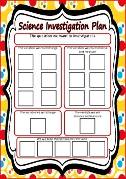 This resource is based on the Science Inquiry Skills strand of the Australian Curriculum for Science  It includes a step-by-step guide to planning a science investigation in workbook format, for students. It also includes two versions of the classroom/small group Investigation Planning Poster. There is an assessment rubric based on Achievement Standards for Year 5 and Six of the Australian Curriculum for Science. Bonus 28 vocabulary cards relating to scientific investigation.$3.00