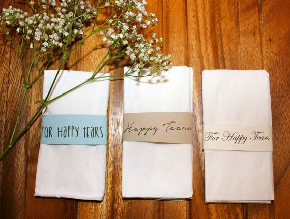 Happy Tears Tissue wrap - you pick colors/font!