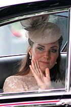 The Duchess of Cambridge during the Diamond Jubilee celebrations, 5 June 2012.