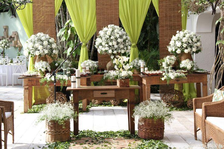 decoracao festa rustica: Casamento Solar de Gração – Cor da Festa: Rústico, Verde e Branco
