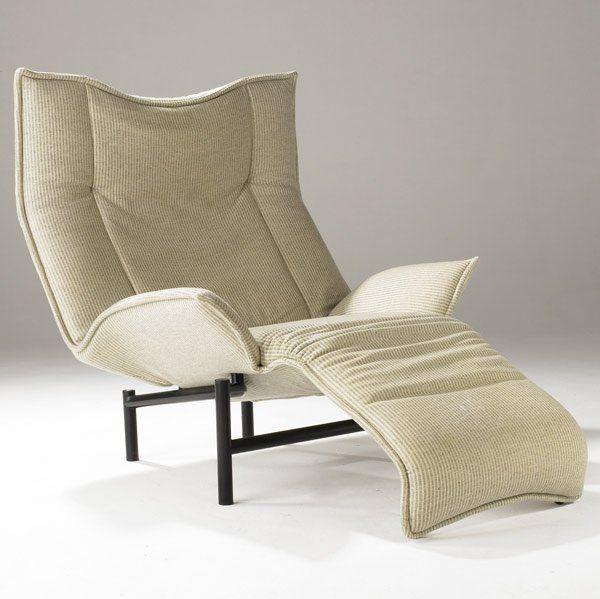 Vico Magistretti, Veranda lounge Chair for Cassina, 1983.