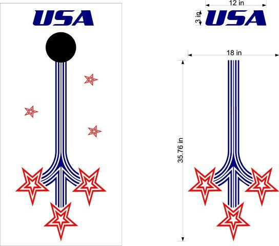 Patriotic -Cornhole Boards-Stickers- Decals-Bean Bag Toss-Wraps-Personalized Cornhole- Custom Cornhole Decals-Vinyl Decals