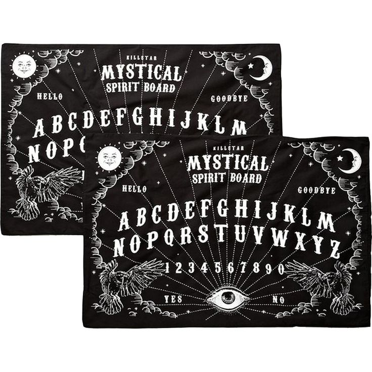 Inked Boutique - Spiritboard Pillow Cases  Goth Nugoth Ouija Occult www.inkedboutique.com
