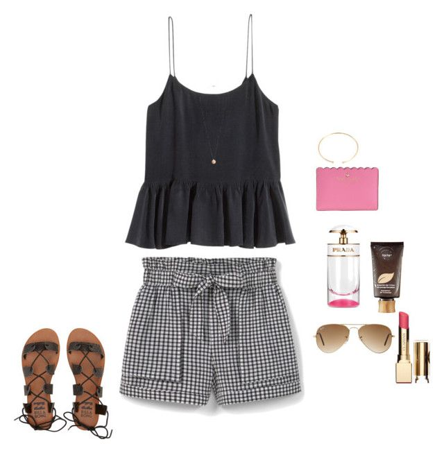 """I'm Sunburntt"" by ablrichh on Polyvore featuring H&M, Kate Spade, Prada, tarte, BaubleBar, Billabong, Ray-Ban, Dorothy Perkins, Clarins and MANGO"