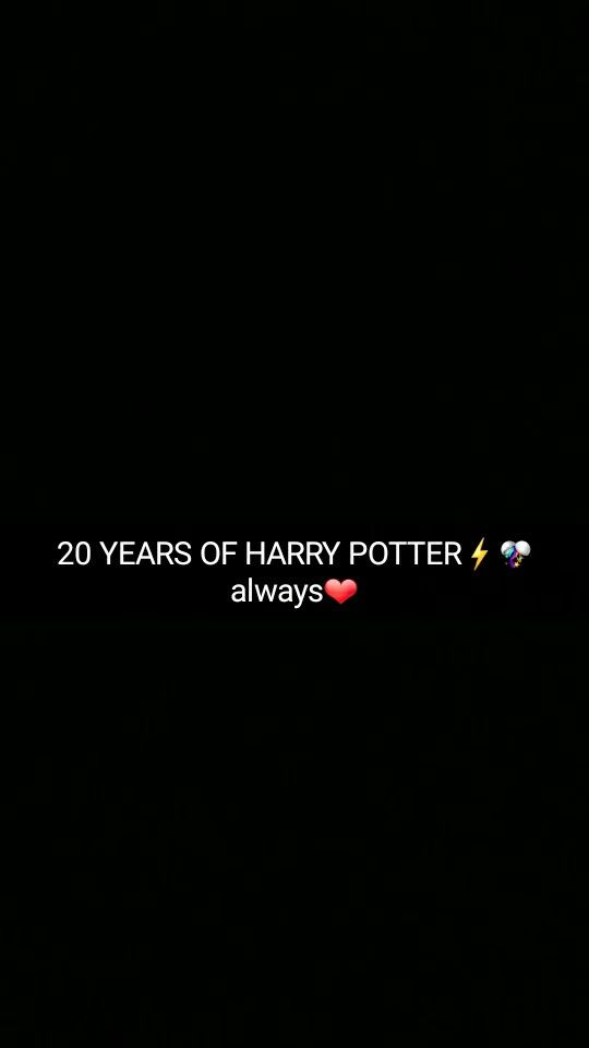 20 years of Harry Potter!!!❤ J.K. Rowling, you will ALWAYS be my queen for the tremendoulsy huge gift you've given to our world. ILY❤