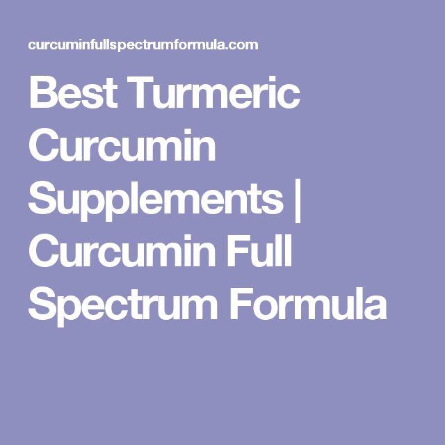 Best Turmeric Curcumin Supplements   Curcumin Full Spectrum Formula