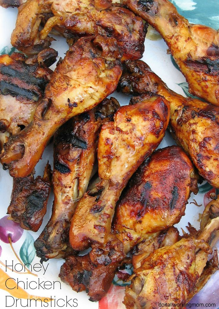 Honey Chicken Drumsticks are cooked in the slow cooker for a few hours then grilled on the BBQ. Wow! Simply amazing!