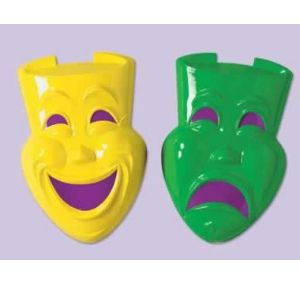 Comedy and Tragedy Faces Plastic