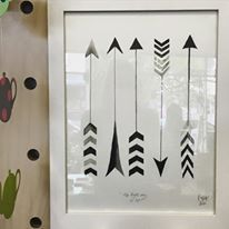Arrow design. The Only way is up! Illustration by Phoebe Jost Art. Minta & Co.
