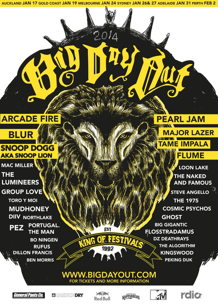 Big Day Out festival poster concept