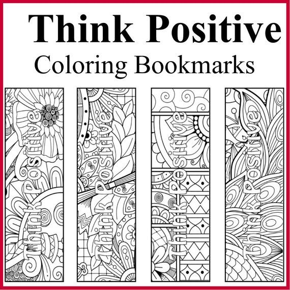 50 Think Positive Coloring Bookmarks Positive Affirmations Etsy In 2021 Coloring Bookmarks Bookmarks Positive Thinking