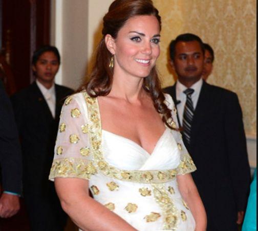 Glowing. Kate Middleton