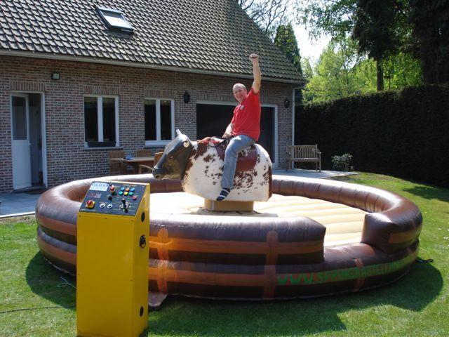 Huur eens een rodeo stier: plezier voor jong en oud!
