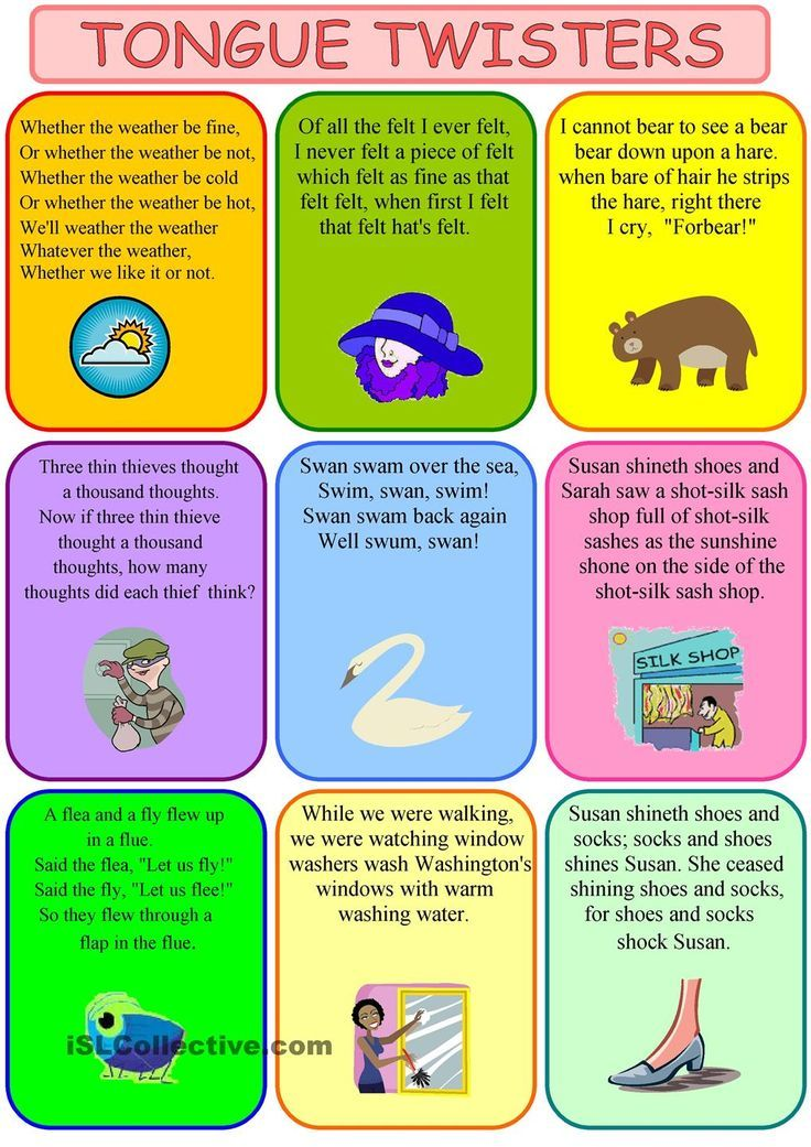 printable book of tongue twisters Yahoo Image Search