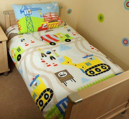Construction Digger Cot Bed Junior Duvet Set