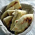 Pain pour tajine (ou goûter gourmand) : pain à la semoule à la poele