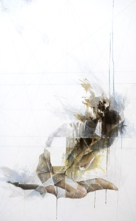 "Saatchi Online Artist: jennifer hansen; Mixed Media, Painting ""Shattered"""