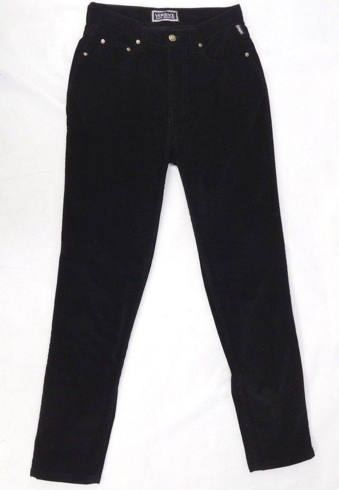 8b9a840d687afa Versace Jeans Couture Vintage Black Corduroy Pants- Size 29 40  Versace   Corduroys
