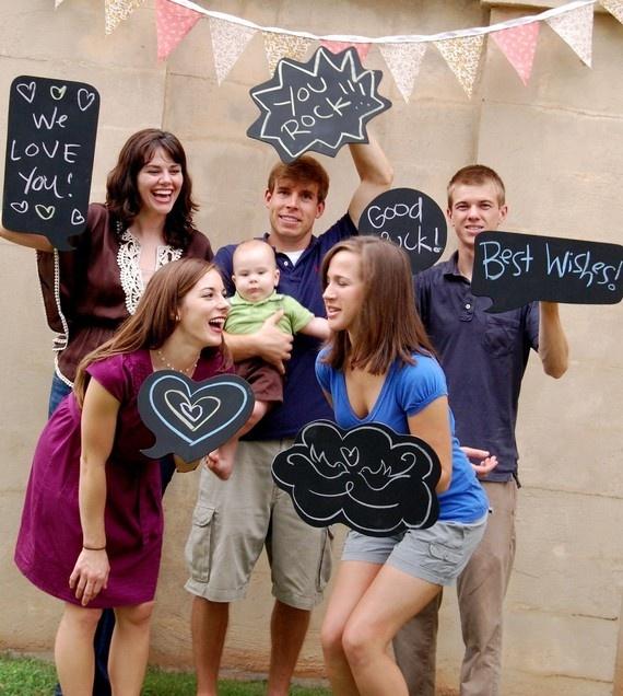 Photobooth props - Chalkboards :  wedding black chalkboards diy photo booth props photobooth props reception Chalkboards With Writing