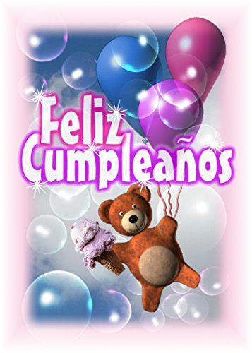 Spanish Happy Birthday-Feliz Compleanos blank inside greeting card Valxart  $6.00 with free shipping from amazon