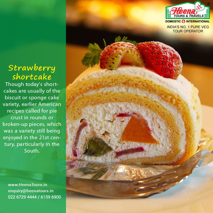 Strawberry Shortcake..!! Though today's shortcakes are usually of the biscuit or sponge cake variety, earlier American recipes called for pie crust in rounds or broken-up pieces, which was a variety still being enjoyed in the 21st century, particularly in the South.