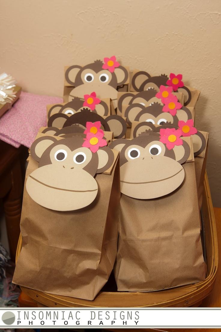 monkey punch art - for monkey's birthday treats