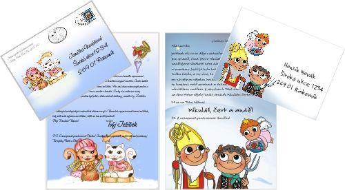 Mikuláš, čert a anděl 2012 - Pošta pro děti, Více info na www.postaprodeti.cz