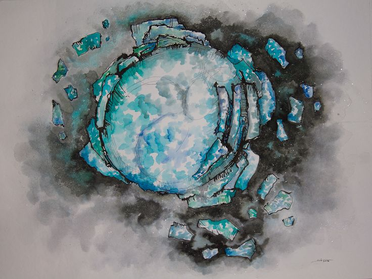 Drawings 2014-2015 on Behance Scoppio ink and watercolors on paper 50X70 cm 2014