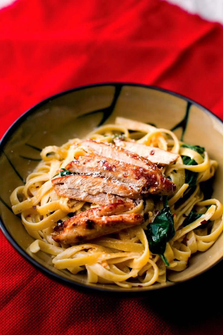 Food for Hunters: Pheasant and Spinach Fettuccine Alfredo