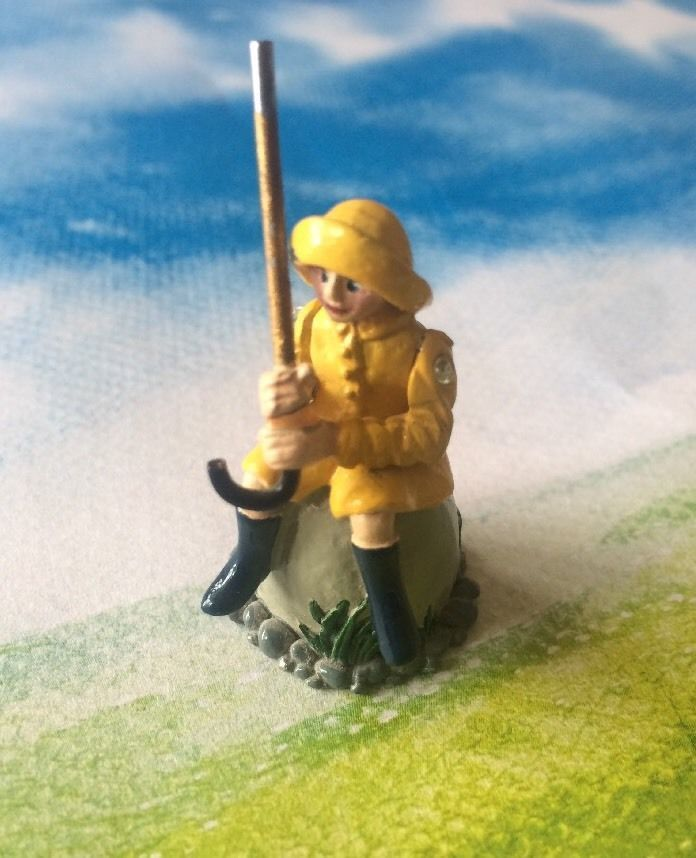 Fun Little Bo Peep Painted Pewter Nursery Rhyme Thimble Marked OD P | eBay