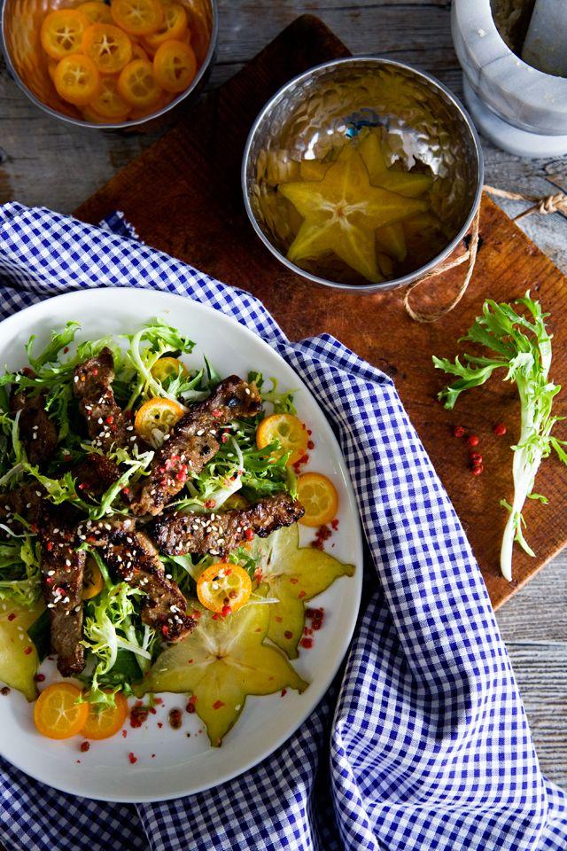 Grilled Lemongrass Beef Salad by tartineandapronstrings
