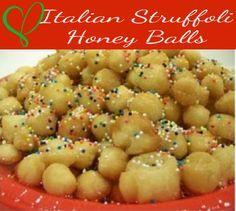 My childhood!!! Italian Struffoli Recipe - Italian Honey Balls - Family Recipe