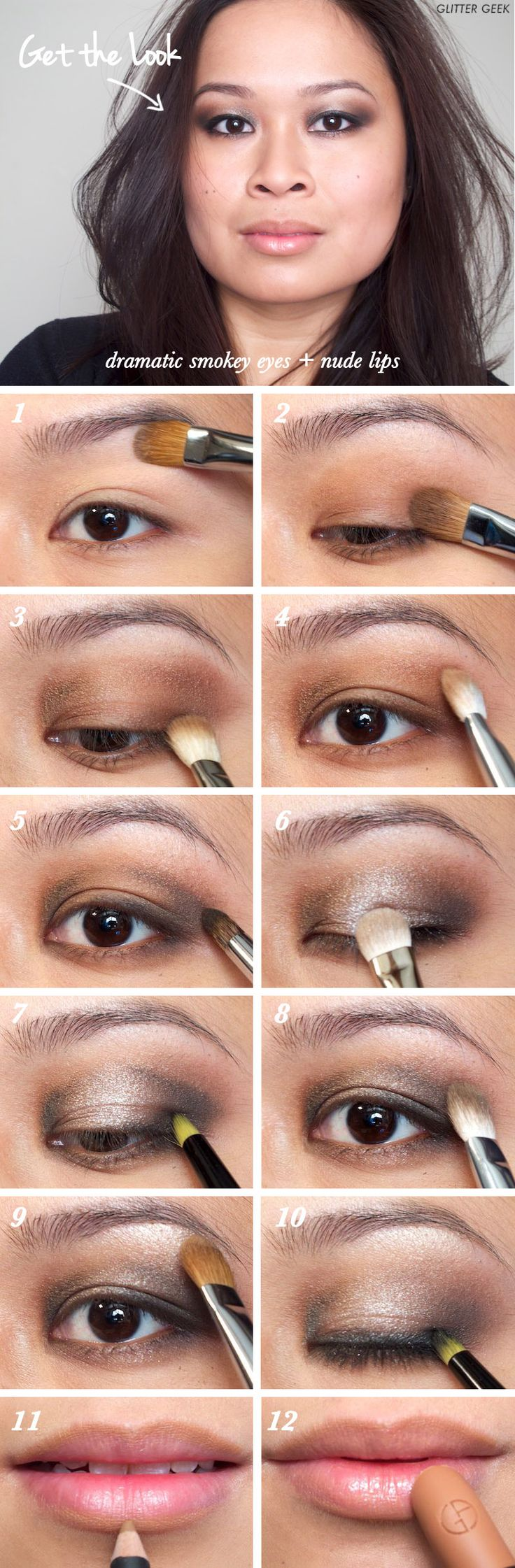 83 best eye makup tutorials images on pinterest eye makeup shu qi on harpers bazaar 2011 smokey eyes and nude lips makeup tutorial western style super bold clubbing makeup baditri Image collections