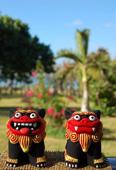 Okinawa lion dance doll. Ishigaki Island Okinawa Japan.kurosuke ishigaki