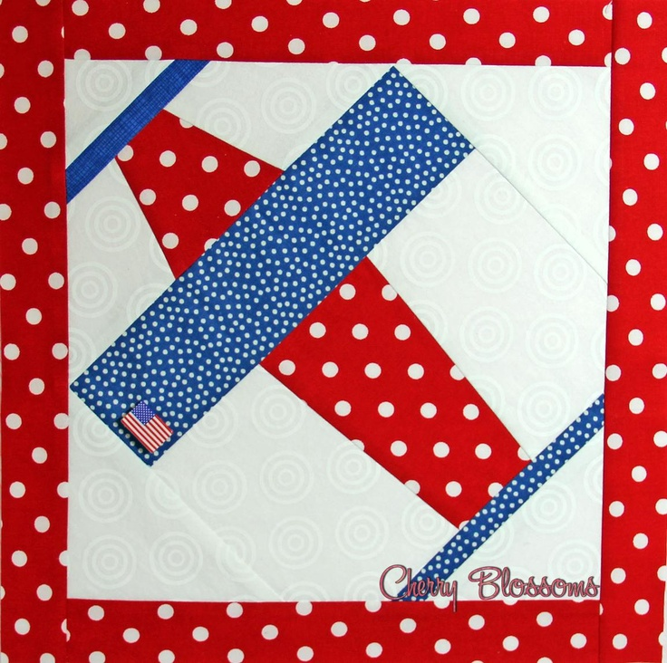 Red White Amp Blue Airplane Quilt Vintage Quilts