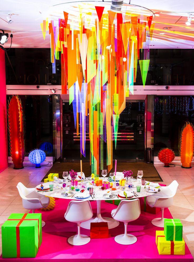 .The Conran Shop's neon holidays decor