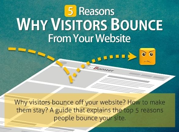 You are great in inbound marketing but more than 90% visitors are either bouncing from your site or not bothering your content without any activity. But why do visitors bounce off your website? Why they leave your landing pages so quickly? How to make them stay? How to reduce bounce rate? Successful business blogs can generate huge traffic, but many businesses need a lot of help to get it right. A guide that explains the top 5 reasons people bounce your site.