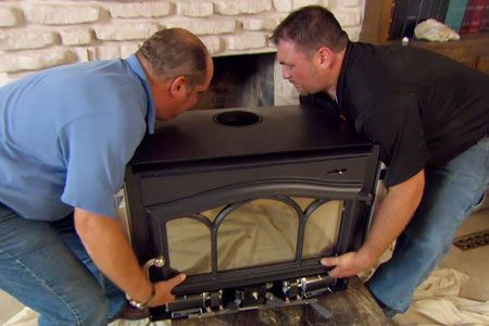 with This Old House plumbing and heating expert Richard Trethewey | thisoldhouse.com | from How to Install a Wood-Burning Fireplace Insert