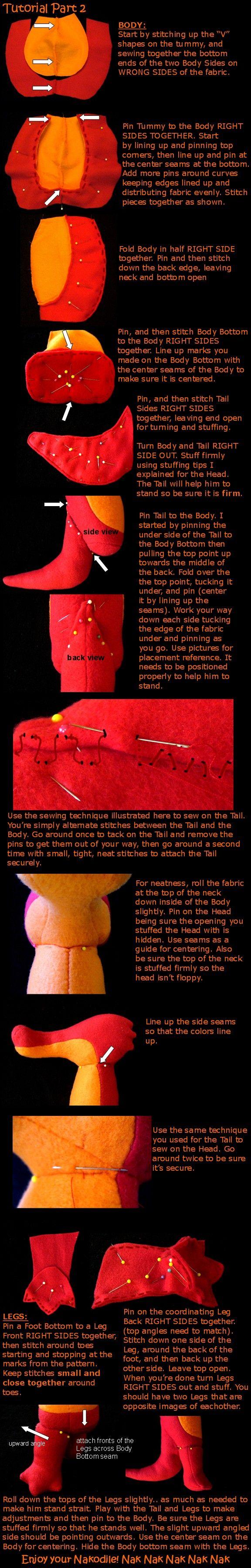 Nakodile sewing tutorial Part 2 by lishlitz.deviantart.com on @deviantART