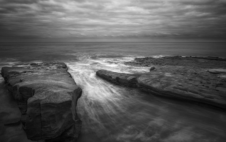 FINEARTSEEN - View Coastal Monochrome by Joseph Giacalone. A stunning limited edition coastal photograph in black and white. The Home Of Original Art. Enjoy Free Delivery with every order. << Pin For Later >>